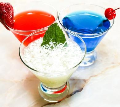 Perfect red, white, and blue cocktail