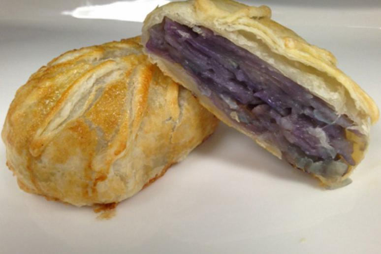 Purple Potatoes Wrapped in Puff Pastry
