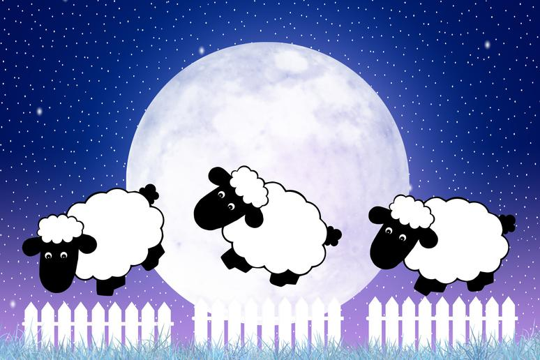Counting sheep helps you fall asleep faster.