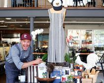 Malarkey's Herb + Eatery features an eclectic mix of found objects and custom-created ones, like the Huntington Co. chefs' aprons