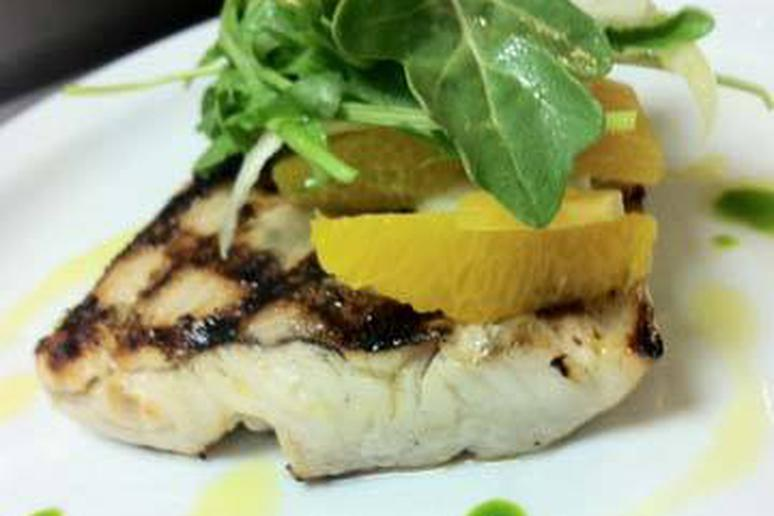Grilled Wild Striped Bass
