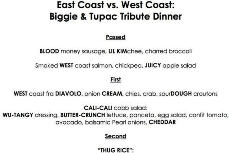 Former 'Top Chef' Star Planning Biggie and Tupac Tribute Dinner for February 2 at Graffiato