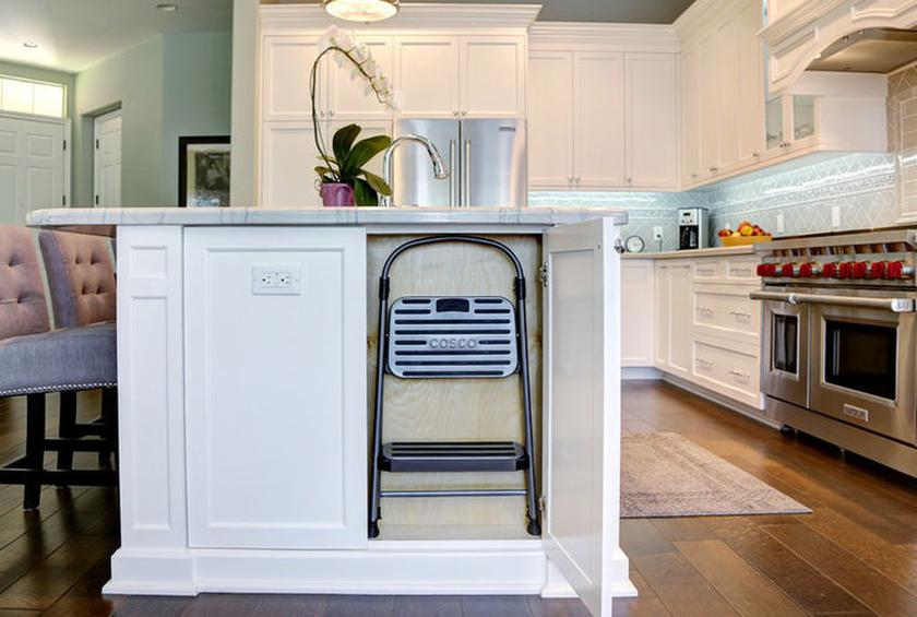 6 space saving tricks to hide a stepladder in your kitchen - Kitchen Step Ladder