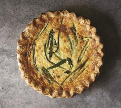 Joanna Gaines Asparagus and Fontina Quiche