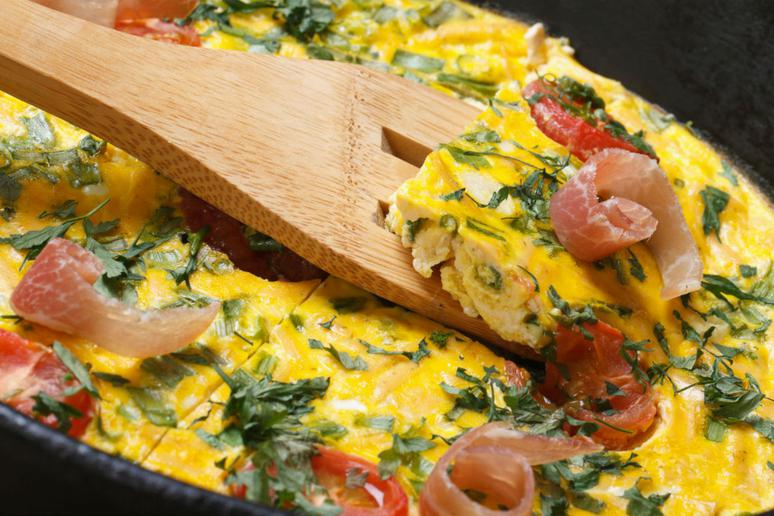 Maple-Glazed Bacon and Spinach Frittata