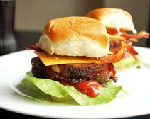Italian Bacon-Wrapped Meatloaf Sliders