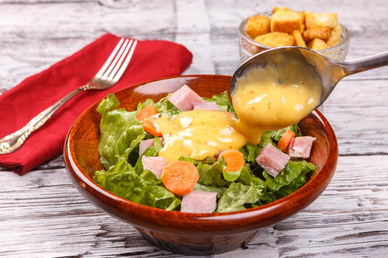 Anything with fat-free dressings