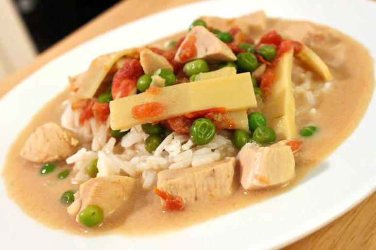 Thai Green Coconut Curry with Chicken Recipe