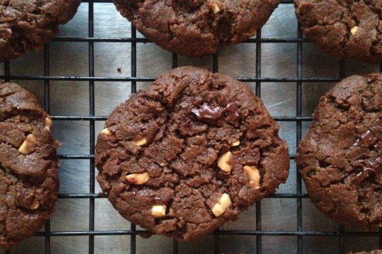 Gluten-Free Double Chocolate Peanut Butter Chunk Cookie