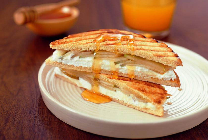 Ricotta and Pear Drizzle Panini