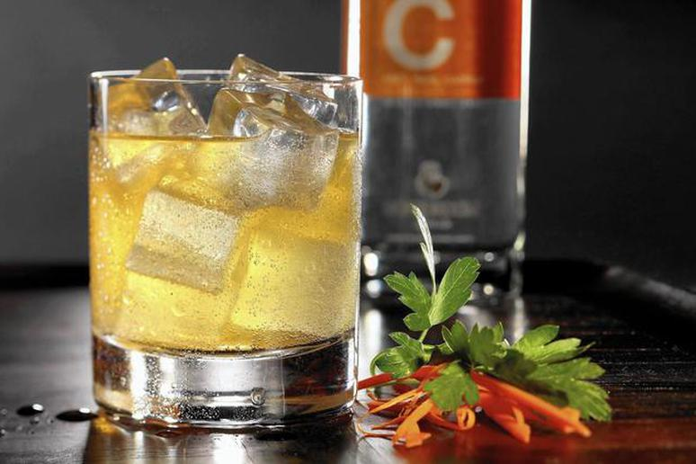 The Jack LaLanne cocktail is a take on a mule, with C Spirit, made from fresh carrots, acting as the base.