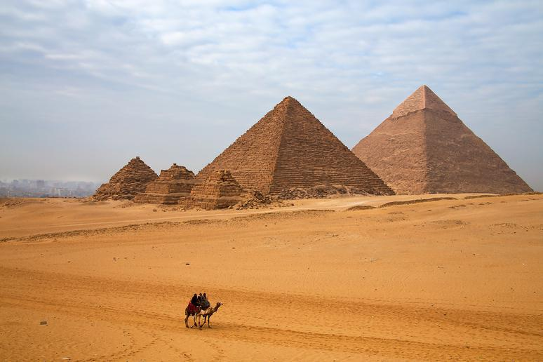 Explore the pyramids in Egypt