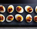 Sriracha Deviled Eggs With Candied Bacon McCormick