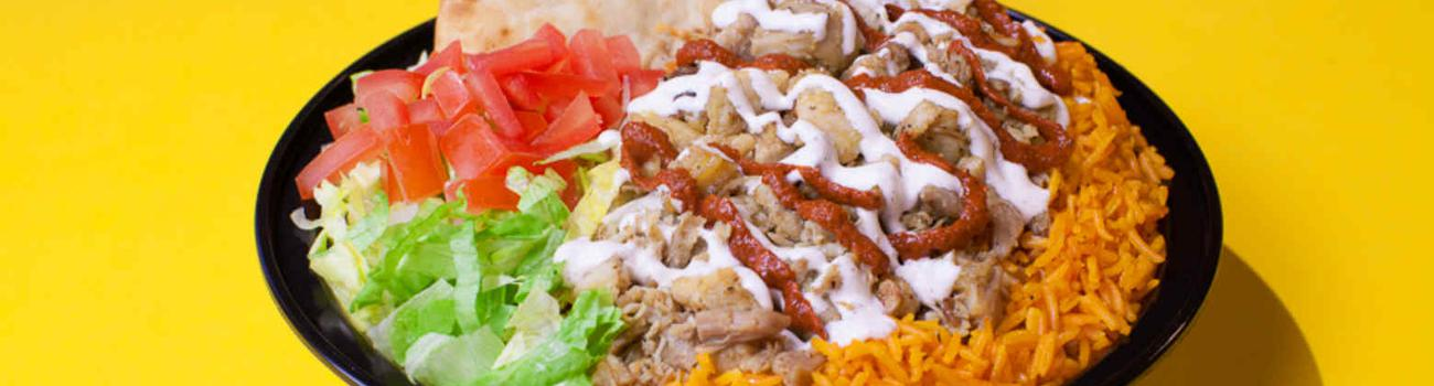 The white sauce-topped street eats dish is irresistible.
