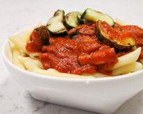 Spicy Tomato Sauce with Sopressata and Charred Zucchini
