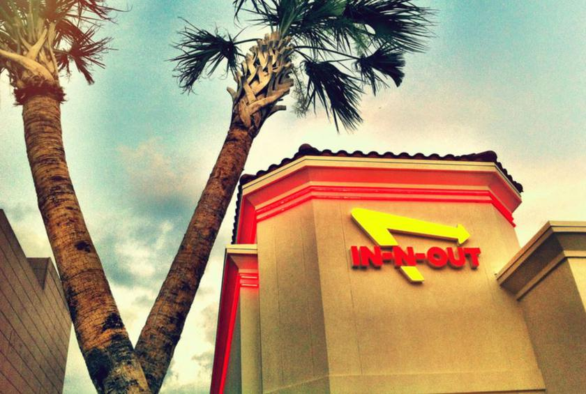 The Real Story Behind In N Outs Crossed Palm Trees