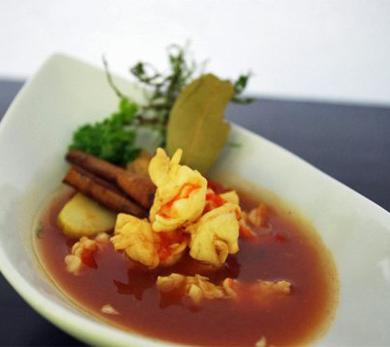 Crawfish Stew with Cinnamon and Star Anise