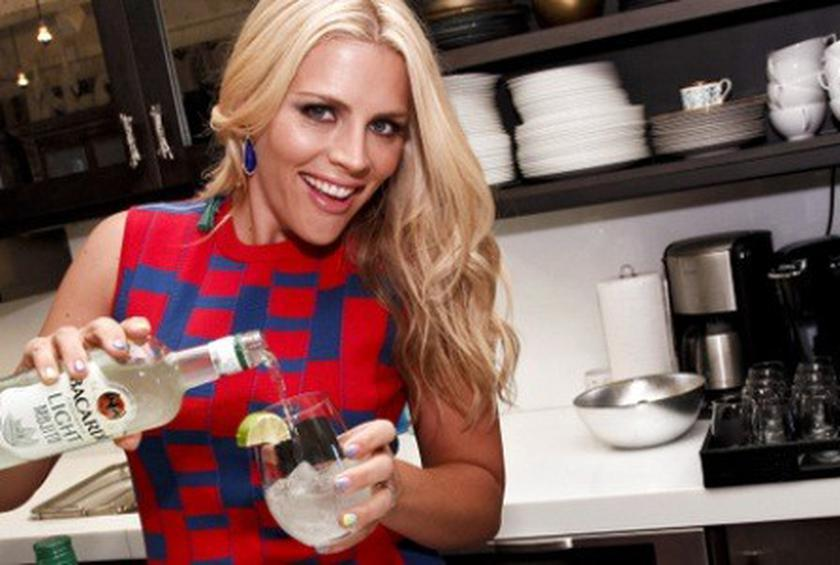 Busy Philipps entertaining with Bacardi Classic Light Cocktails.