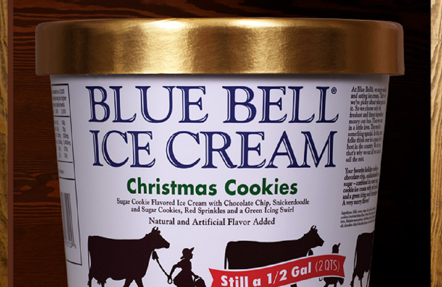 Blue Bell Ice Cream S Limited Edition Christmas Cookies Flavor Has