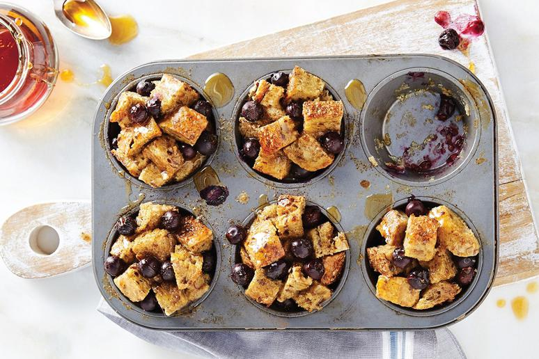 Blueberry Pie French Toast Muffins