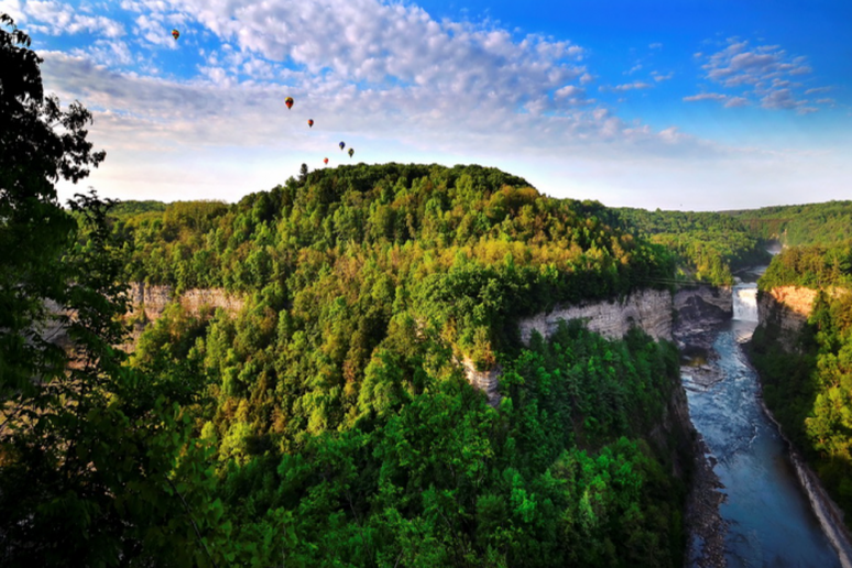 In a Hot Air Balloon (Finger Lakes, New York)