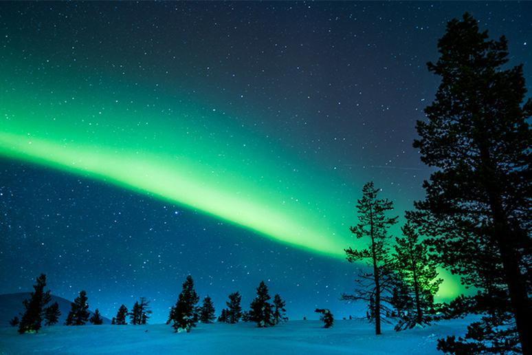 See the Northern Lights from in Finland's wilderness