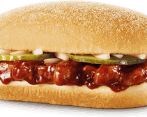 The McRib is one of the most popular McDonald's limited edition menu items.