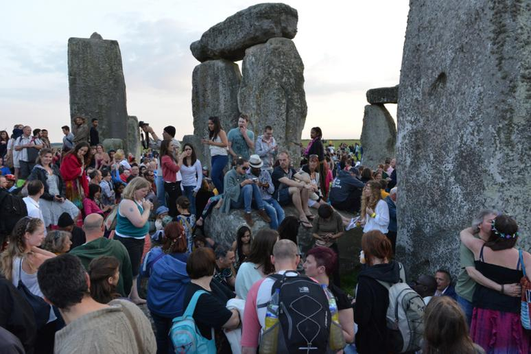 Join worshippers at Stonehenge