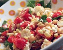 Easy Corn Salad with Feta, Tomatoes, and Basil Recipe