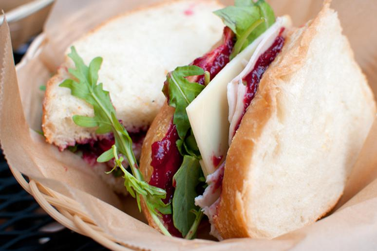 Turkey Tenderloin Cranberry Sandwich