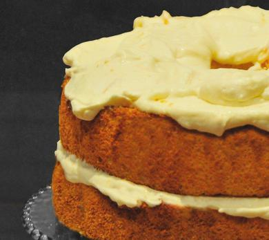 Angel Food Cake with Meyer Lemon Ginger Cream