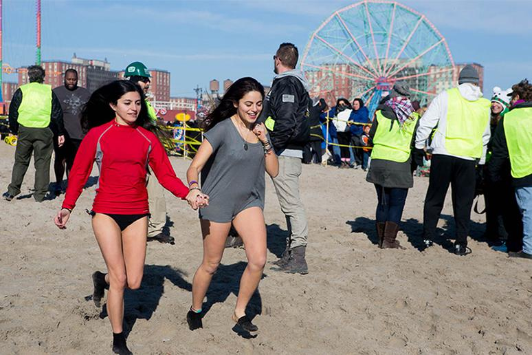 The Coney Island Polar Bear Swim, New York
