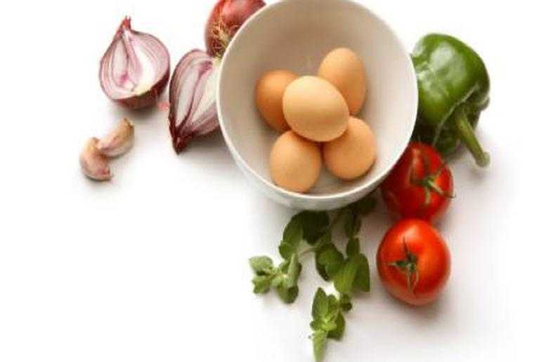 Omelette ingredients