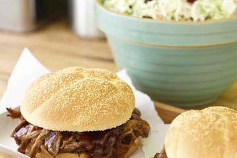 Pulled Pork Sandwiches with coleslaw