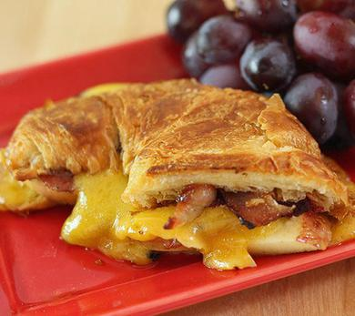 Apple, Pancetta, and Sharp Cheddar Grilled Croissant