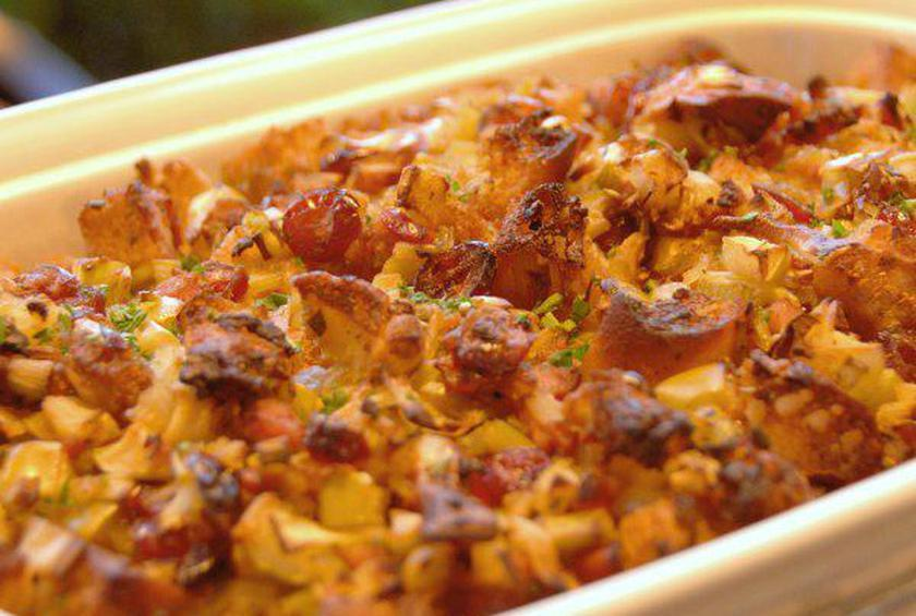 Cranberry Apple And Sausage Stuffing Recipe By Robert Irvine