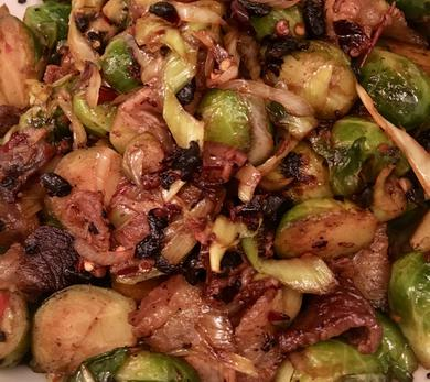 Brussels Sprouts and Pork Belly