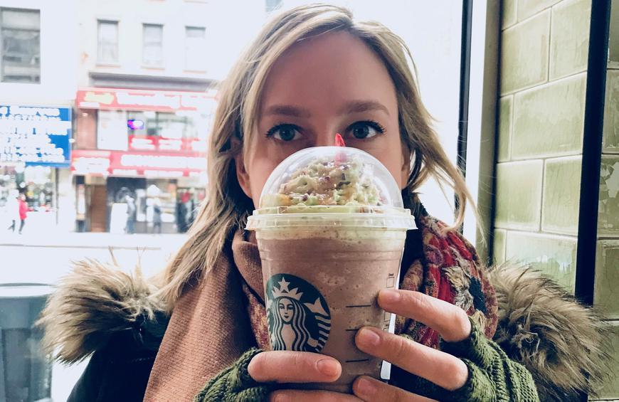 Christmas Tree Frap.We Tried Starbucks Christmas Tree Frappuccino And Here S