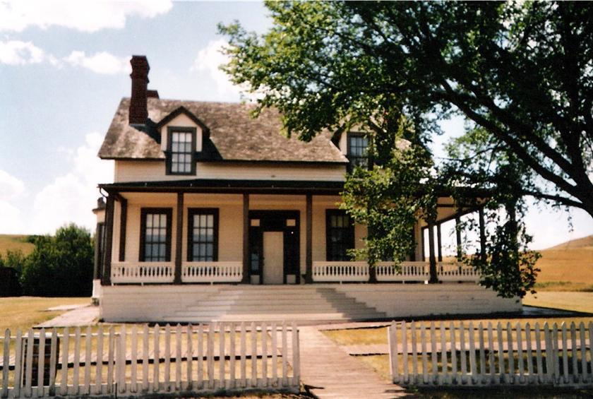North Dakota: Custer House (Fort Abraham Lincoln State Park)