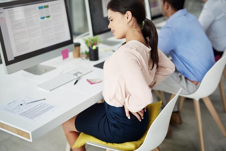 Your desk gives you back pain