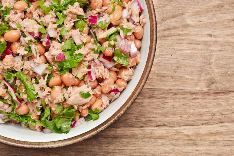 Butter Bean, Tuna, and Celery Salad