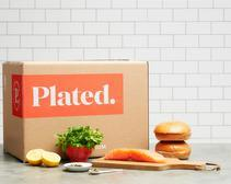 Salmon burgers from Plated