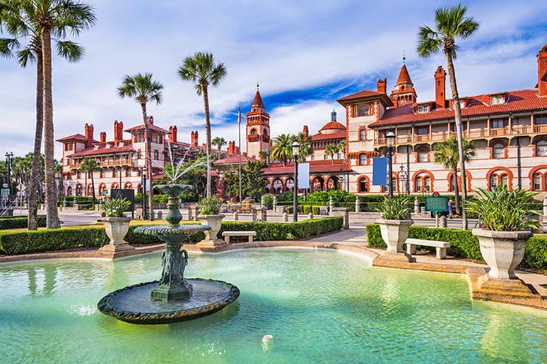 Go to St. Augustine, Florida for its anniversary