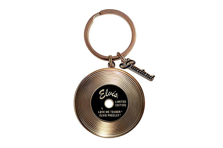 Elvis gold record key ring from Graceland