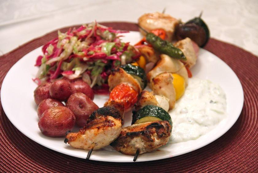 Grilled Chicken Kebabs And Potatoes Recipe By Arthur Bovino