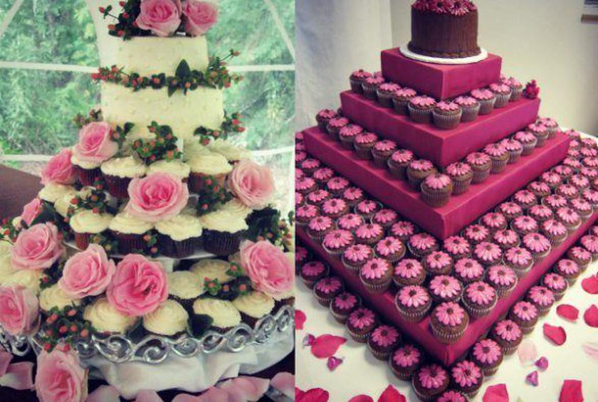Wedding Cake of the Day: Cupcake Wedding Towers