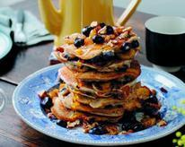 Banana, Blueberry, and Pecan Pancakes