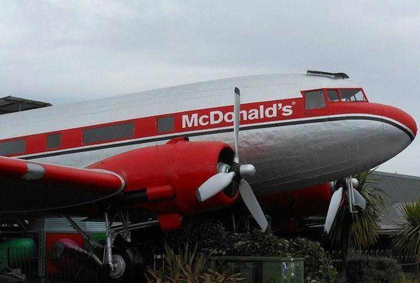 McShakes on a Plane: McDonald's Opens on a Vintage Plane