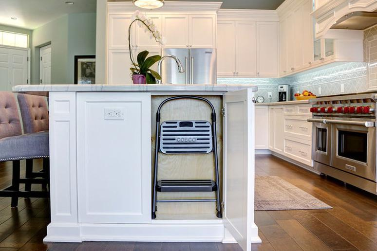 6 Space-Saving Tricks to Hide a Stepladder in Your Kitchen