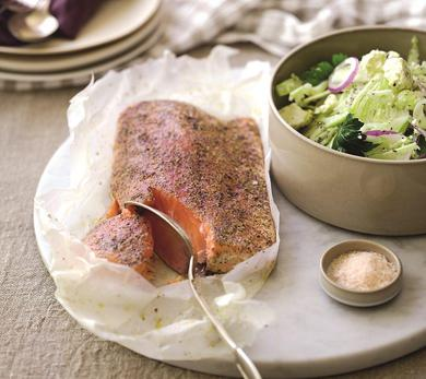 Atlantic Salmon Grilled With Fennel, Lime, and Sumac